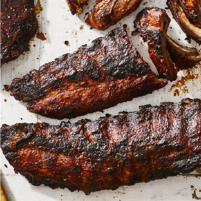 Roasted Pork Baby Back Rib w/ Mixed Green BBQ Sauce (1kg)