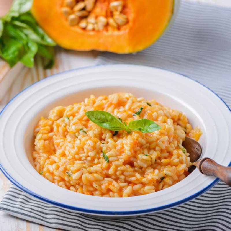Pumpkin, Raisins, Cheese & Cream Risotto (Vegan) (3 lbs)